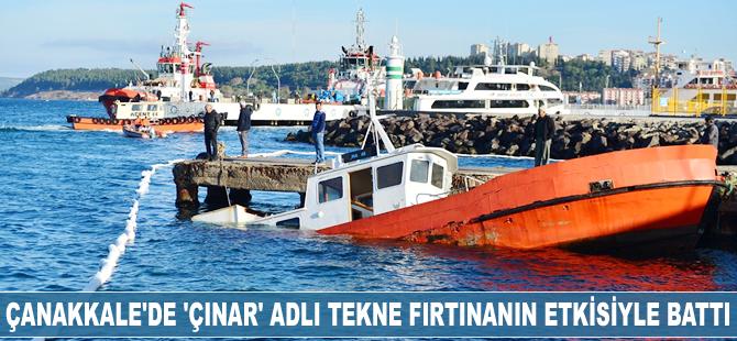 'Çınar' adlı tekne fırtınanın etkisiyle battı