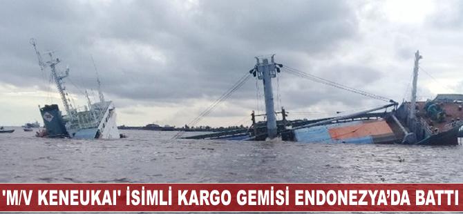 'M/V Keneukai' isimli kargo gemisi Endonezya'da battı