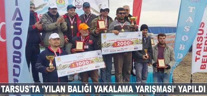 Tarsus'ta 'Yılan Balığı Yakalama Yarışması' yapıldı